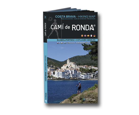 Map Camí de Ronda® from Blanes to PortBou + Colliure and Argelés (Costa Brava Hiking Map)