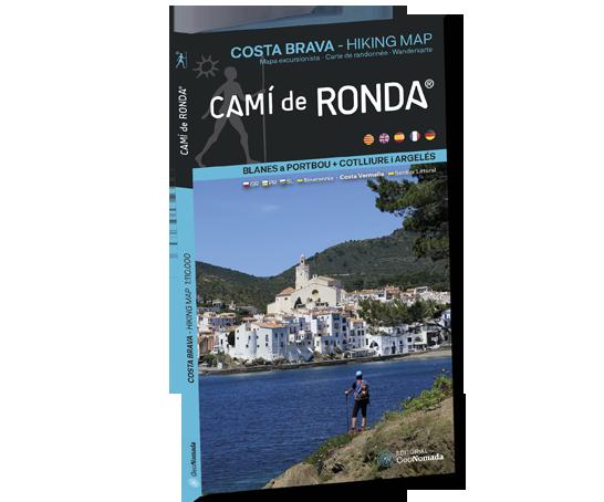 Mapa Camí de Ronda® de Blanes a PortBou + Cotlliure i Argelés (Costa Brava Hiking Map)