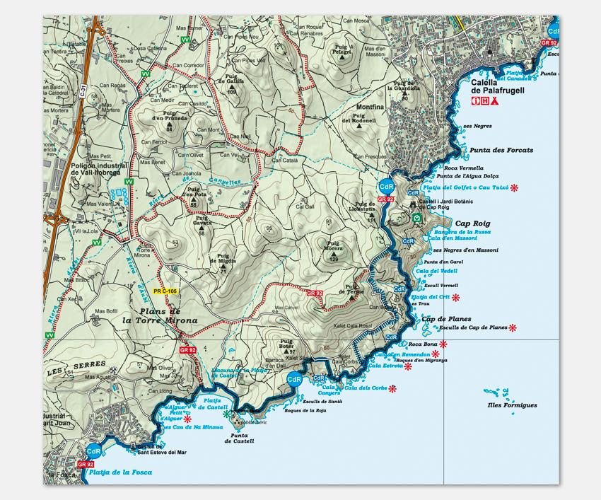 Mapa Costa Brava Playas.Cami De Ronda Mapa Y Guia Del Camino De Ronda En La